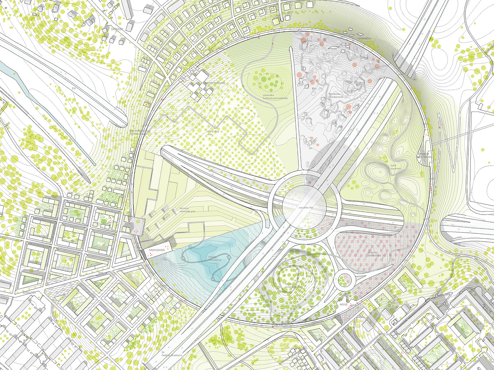 Urban planning: Stockholmsporten master plan