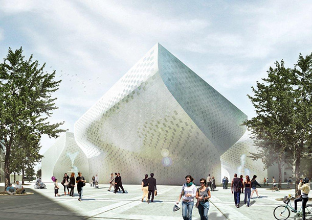 Major cultural center in Albania by BIG