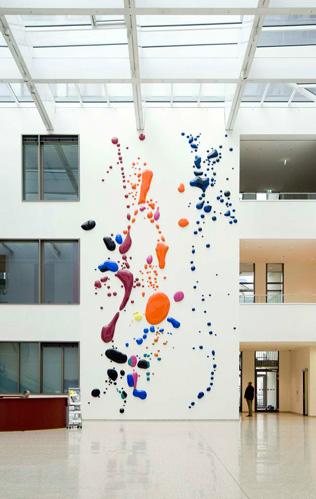 Blob paintings by Peter Zimmermann