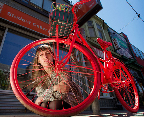 Street art: The Good Bike Project (photo by Bernard Weil/Toronto Star)