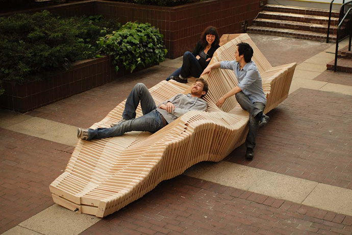 Polymorphic - a kinetic installation created by students