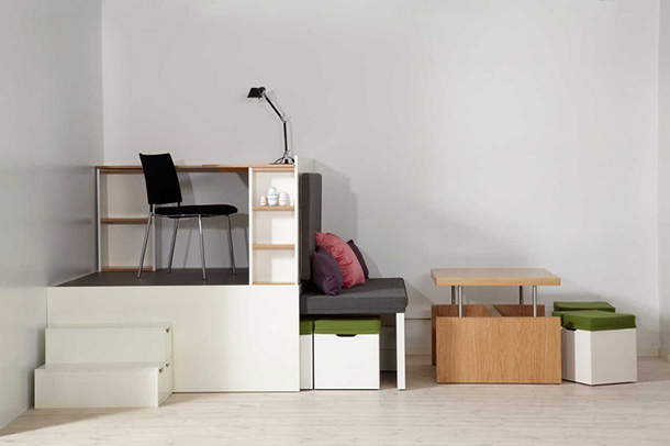 Compact living:: Matroshka - transforming home furniture