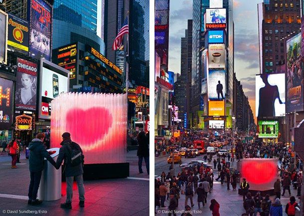 'BIG ♥ NYC' installation at Times Square in New York