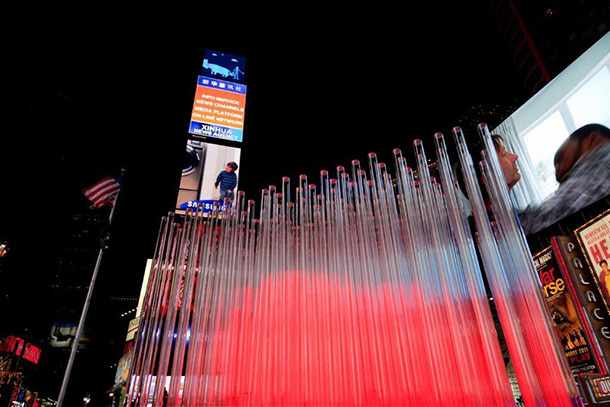 'BIG ? NYC' installation at Times Square in New York
