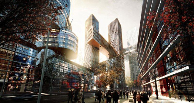 Cross # Towers in Seoul, Korea by BIG