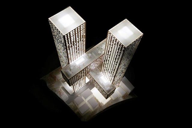 Cross # Towers in Seoul, Korea by BIG