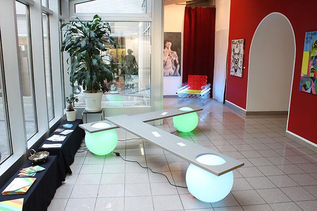 'Glowing Light Ball Bench' by Manfred Kielnhofer