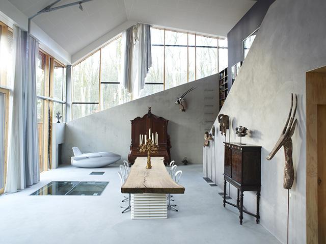 Wall mounted Jaguar in Dutch Mountain house