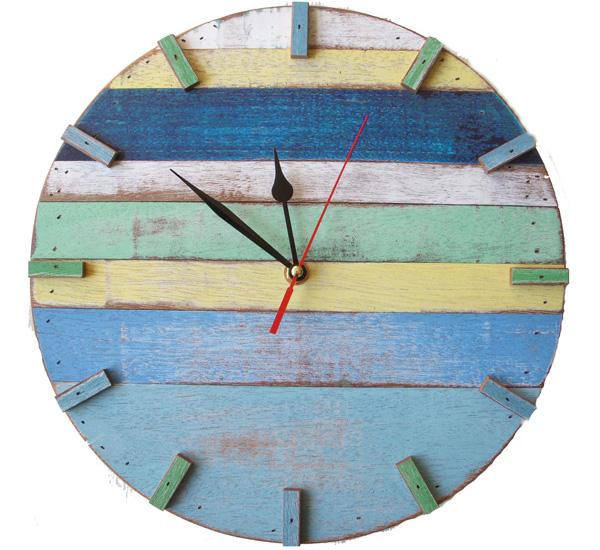 Reclaimed wood retro wall clocks by Bambeco