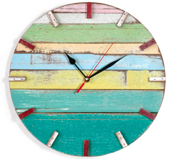 Reclaimed wood retro wall clocks by Bambeco