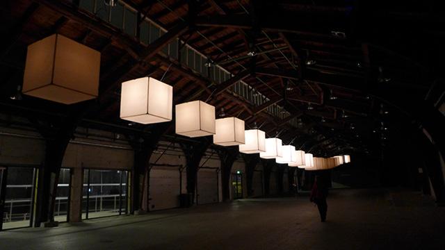'Spine' installation by Kollision