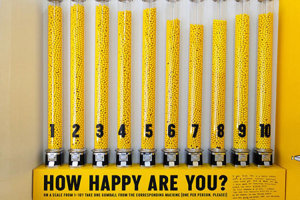 'The Happy Show' exhibition by Stefan Sagmeister