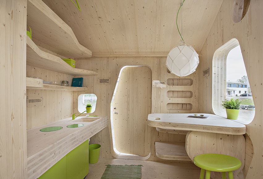 Compact living:: Smart student unit by Tengbom Architects