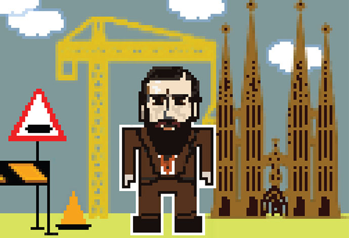 Guess famous architects on comic portraits by Federico Babina