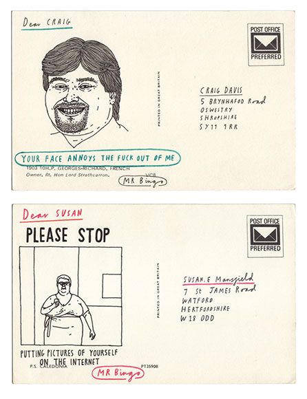 'Hate Mail' project from Mr Bingo