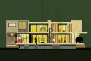 'ARCHICINE' – series of illustrations by Federico Babina