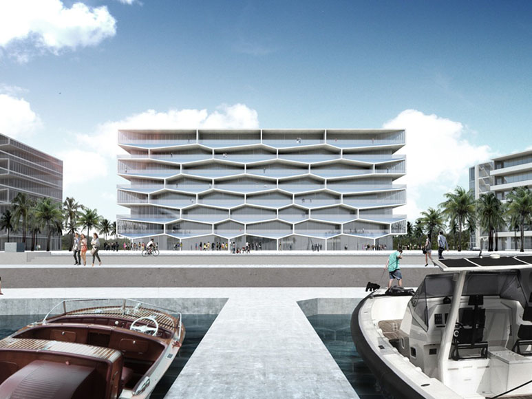 Honeycomb Building in Bahamas by BIG