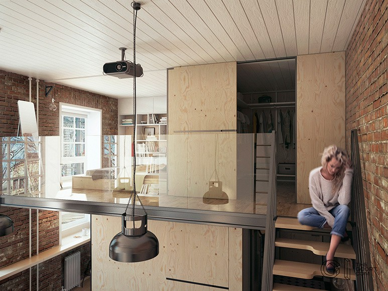 Compact Living:: Haruki's Apartment by The Goort