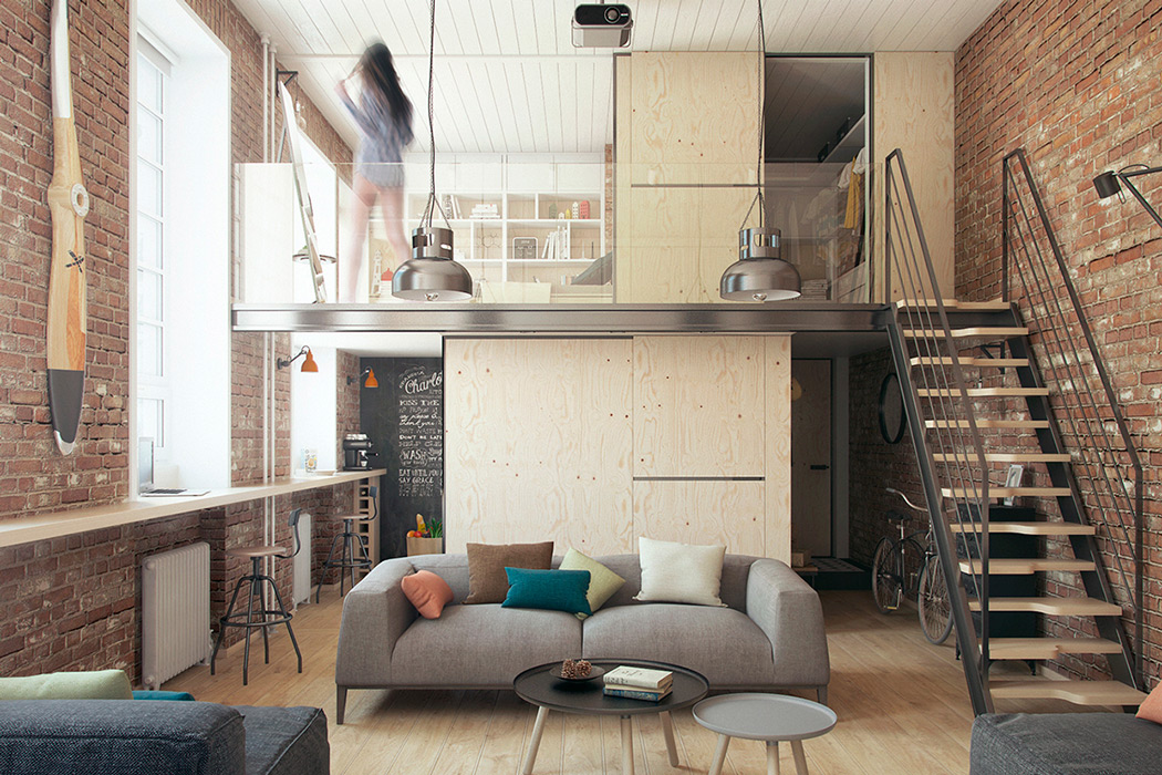 Compact Living  By Russian design firm INT2architecture.