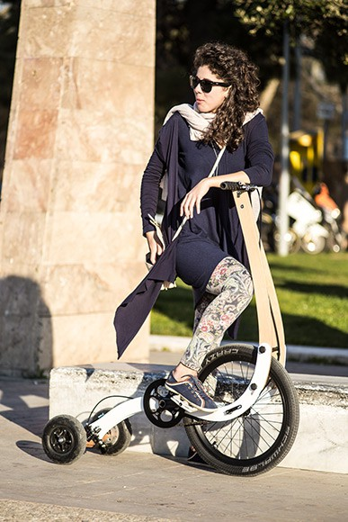 Halfbike II - Compact and Light Tricycle by Kolelinia