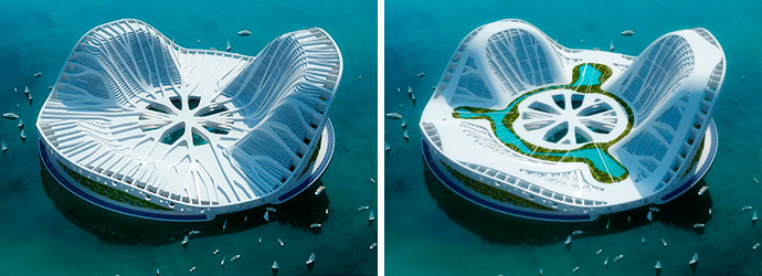 city of the future lilypad by vincent callebaut architectures - Lilypad Architecture
