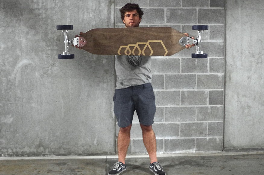 Australian Student Designed a Longboard with Hubless Wheels