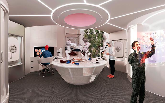 Modular 3D-Printed Habitat on Mars by Foster + Partners New York