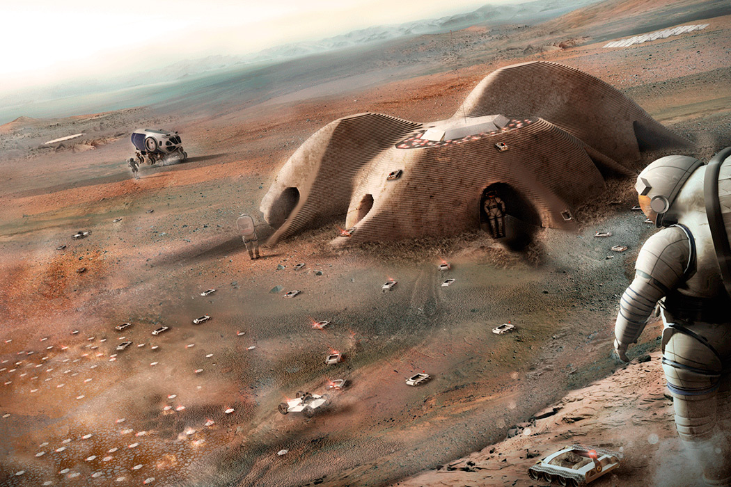 Modular 3D-Printed Habitat on Mars by Foster + Partners New York