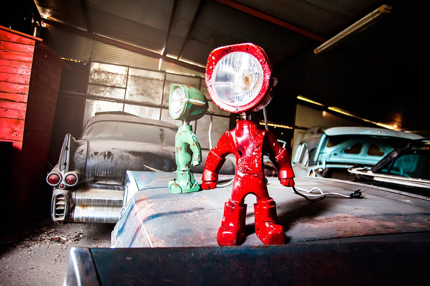 The Lampster - Superhero Robot Lamp by Radu & Andrew