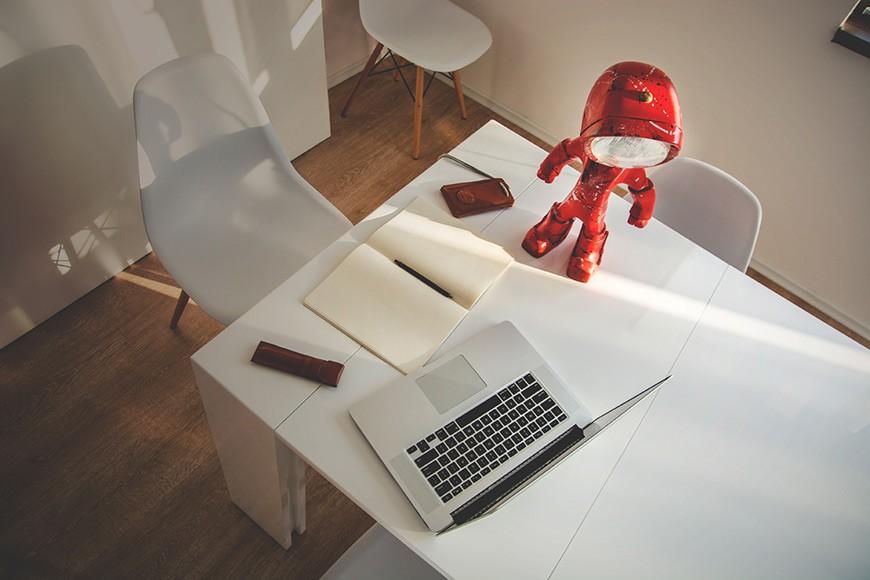 The Lampster - Superhero Robot Lamp by Radu & Andrew