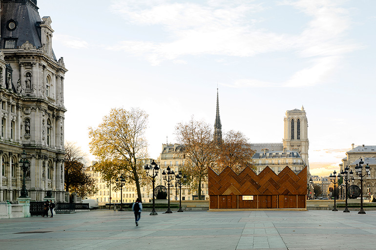 The Circular Pavilion in Paris by ENCORE HEUREUX architectes