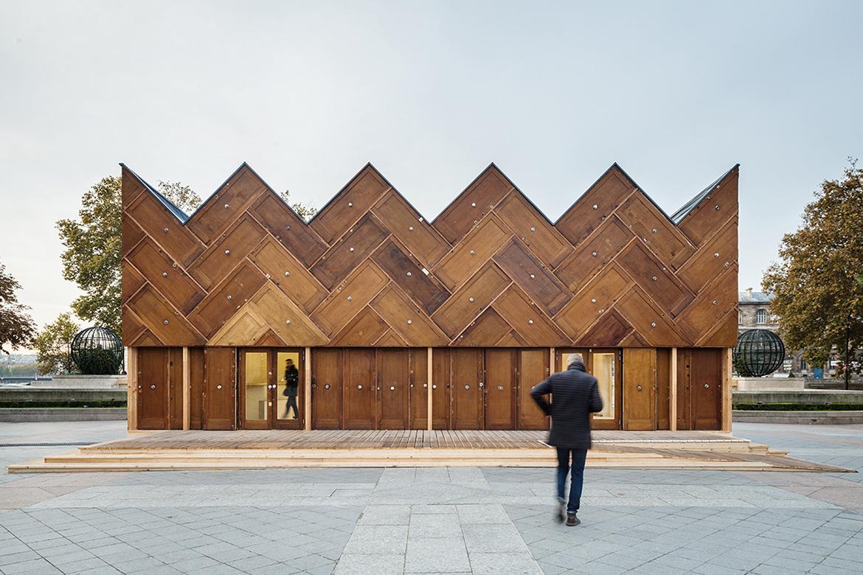 The Circular Pavilion in Paris by ENCORE HEUREUX architectes
