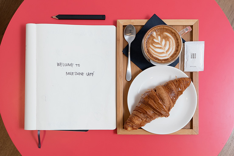 The First Moleskine Caf? in Milan (Photo: Michele Morosi)