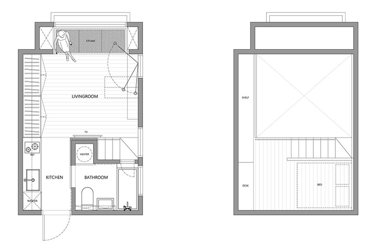 22 Sqm Apartment in Taipei by A Little Design