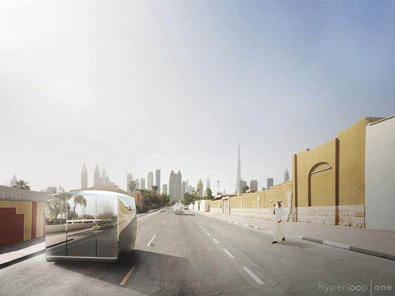 BIG Unveils the Design for the World's First Hyperloop One Transportation System in UAE