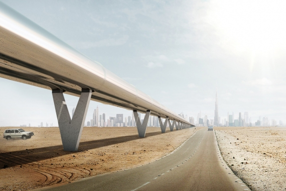 BIG Unveils the Design for the World's First Hyperloop One Transportation System in the UAE