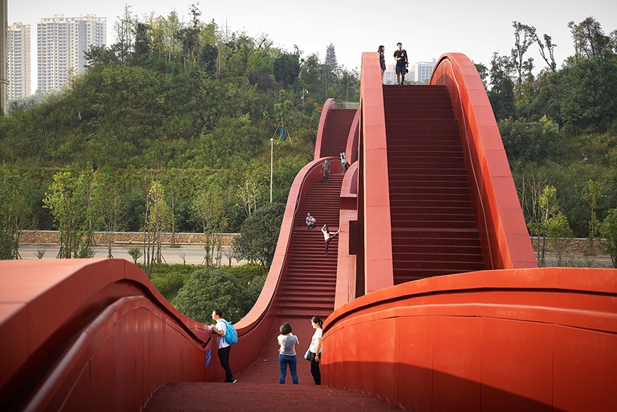 Lucky Knot Bridge in Changsha by NEXT architects