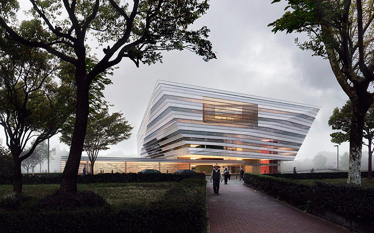 New Shanghai Library by Schmidt Hammer Lassen Architects