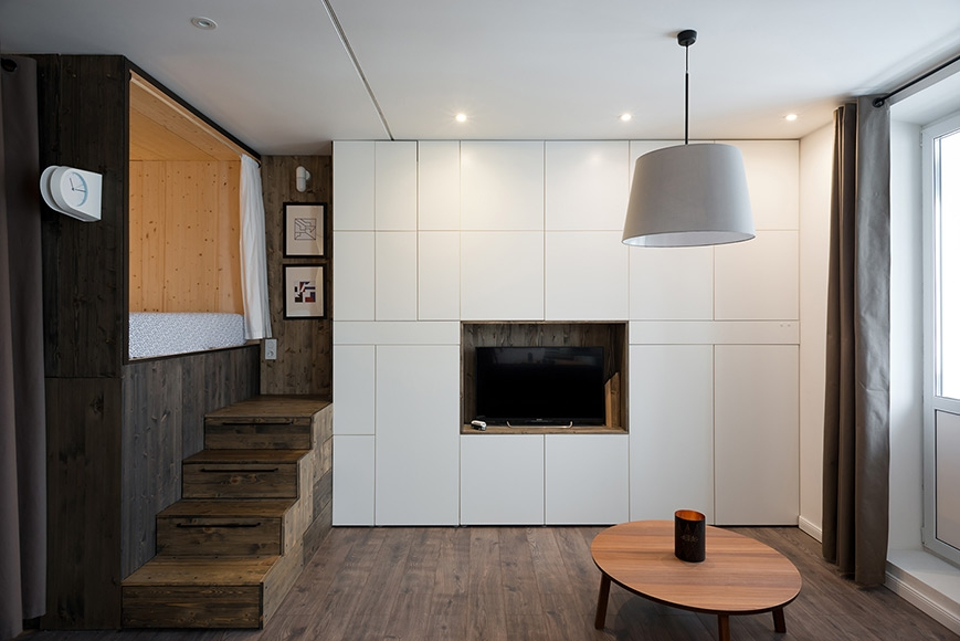 Compact Living:: 35 sqm Apartment in Moscow by Studio Bazi