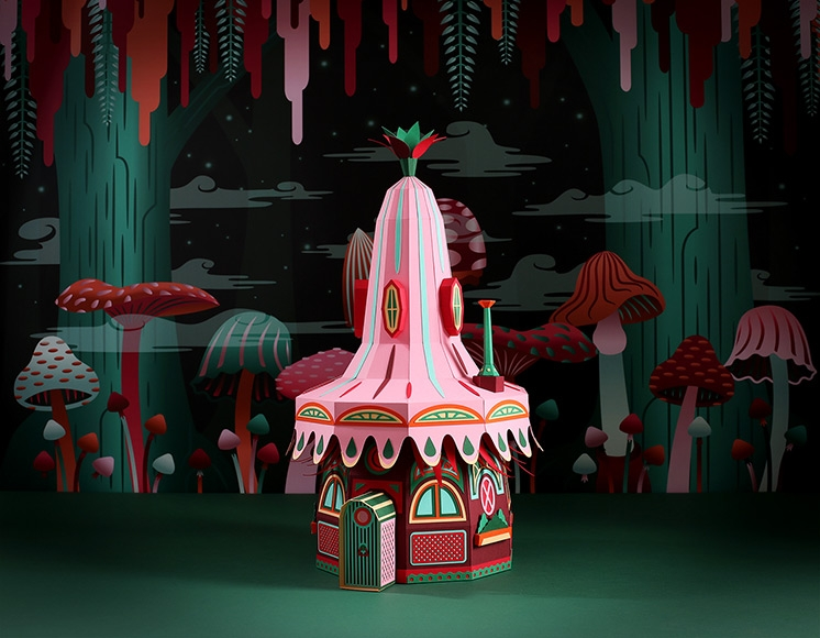 'Forest Folks' Paper Installations for Hermès by Zim & Zou