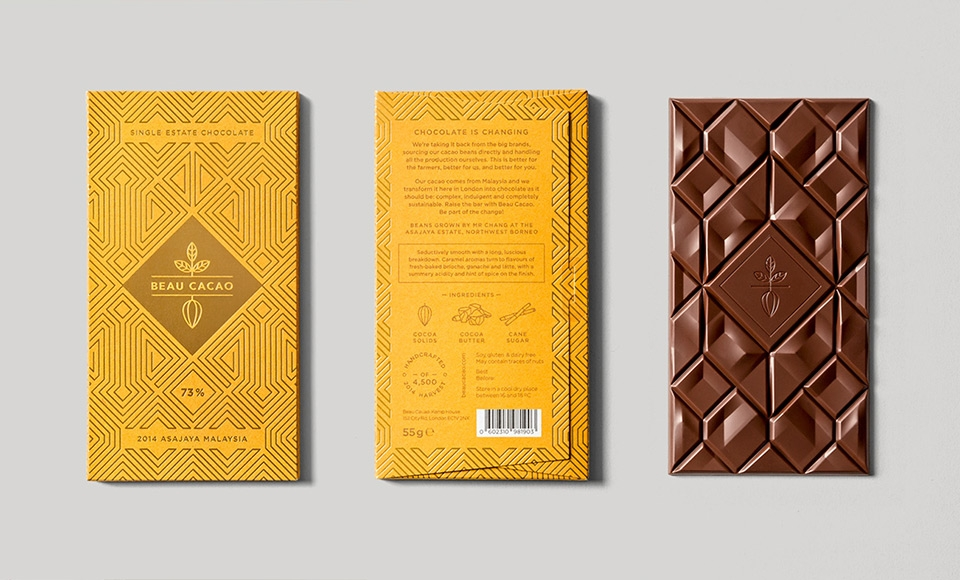 Chocolate Bar and Packaging Design for Beau Cacao
