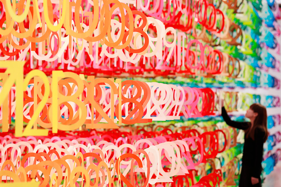 Emmanuelle Moureaux's 'Forest of Numbers' Large-Scale Installation in Tokyo