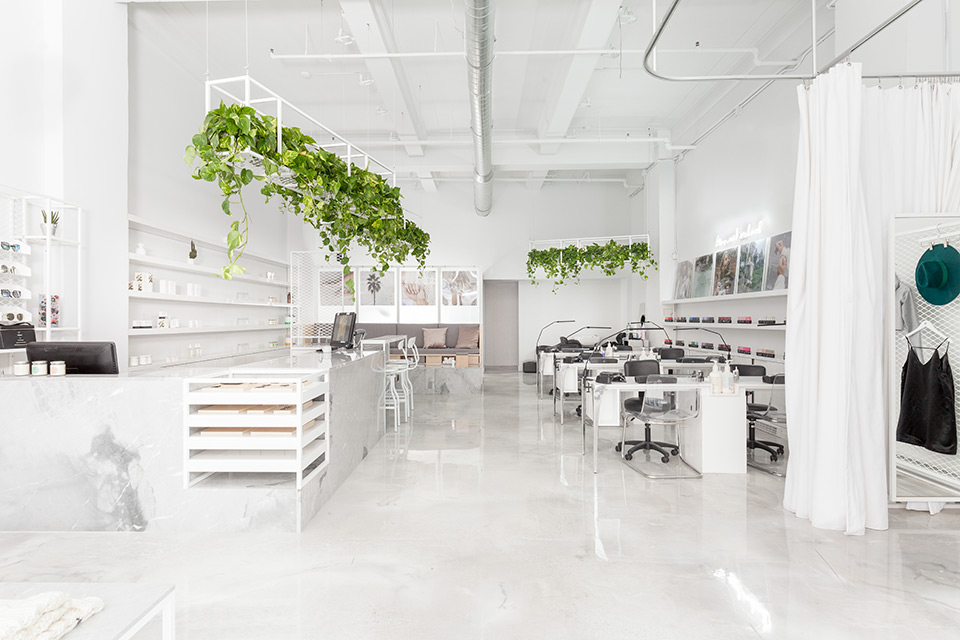 All White Interior Of The Le Manoir Boutique In Montreal By Tuxedo