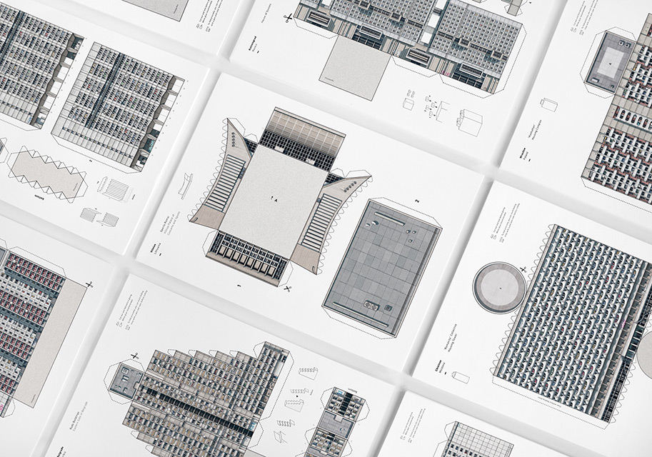 'Brutal East' - Architectural Kit of Paper Cutouts by Zupagrafika