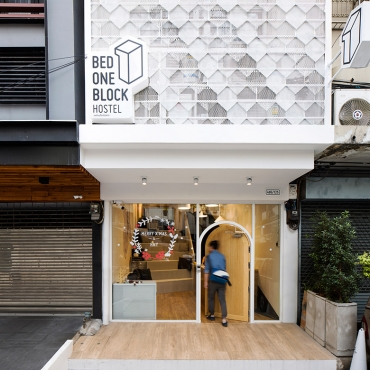 BED ONE BLOCK HOSTEL in Bangkok by A MILLIMETRE