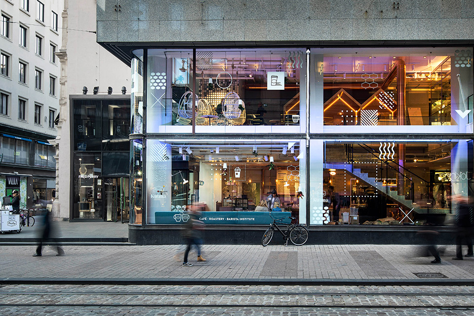 Paulig Kulma Café in Helsinki by Bond Creative Agency
