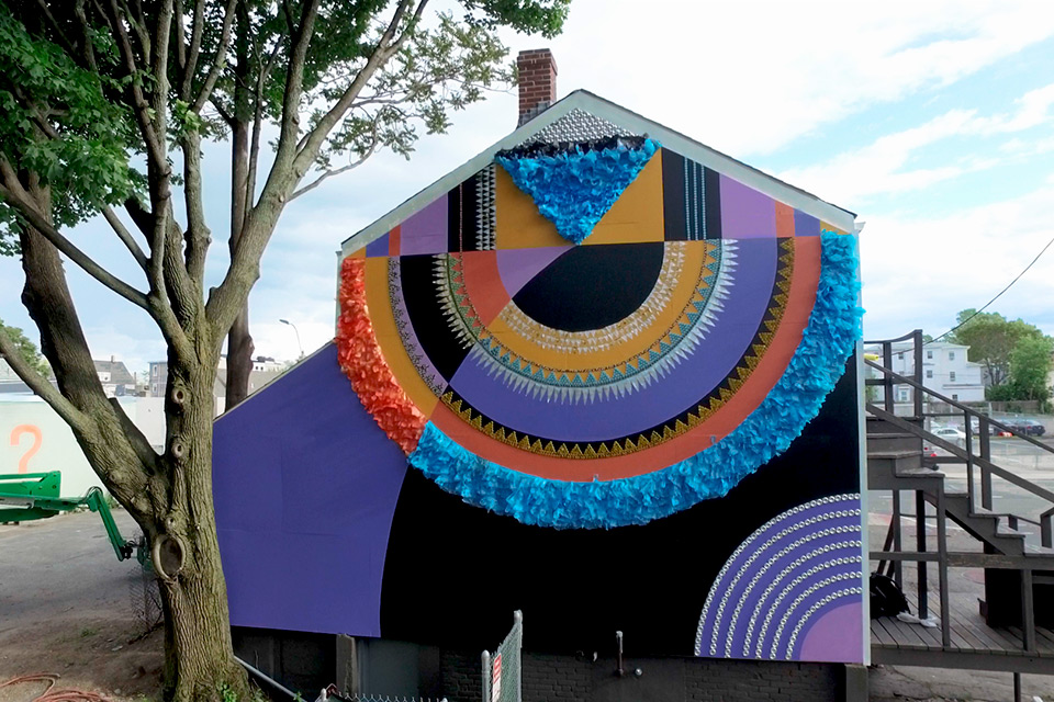 Jessie and Katey Turned Unused House in Boston into Colorful Art Installation