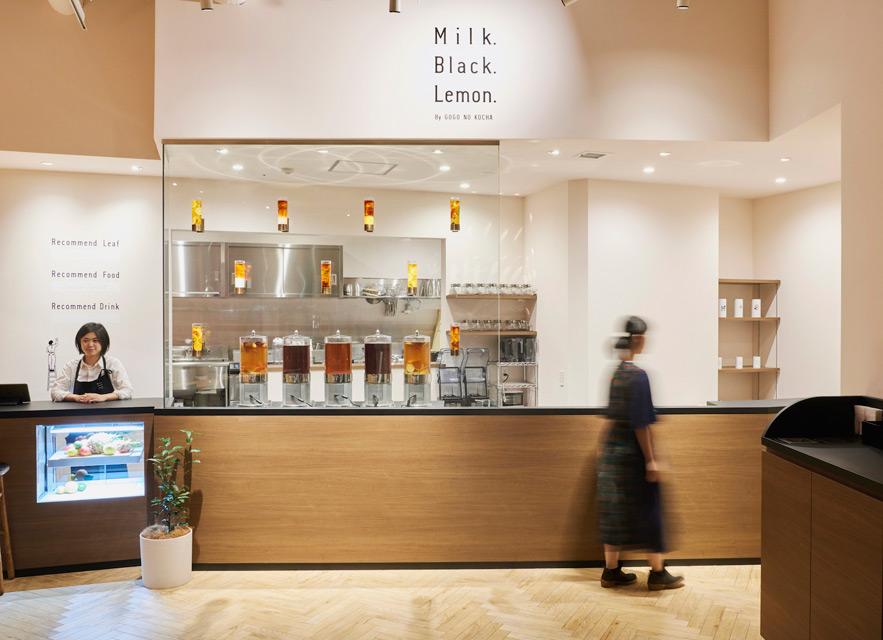 'Milk. Black. Lemon.' Teahouse in Tokyo by Ryusuke Nanki
