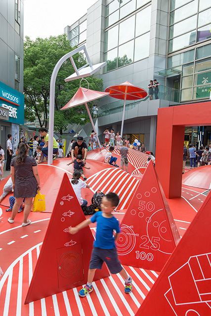 'The Red Planet' Kids Playground in Shanghai by 100 architects