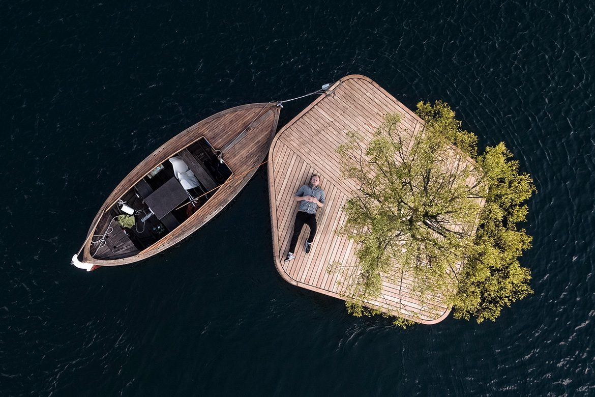 Floating Island in Copenhagen Harbor by Marshall Blecher and Magnus Maarbjerg